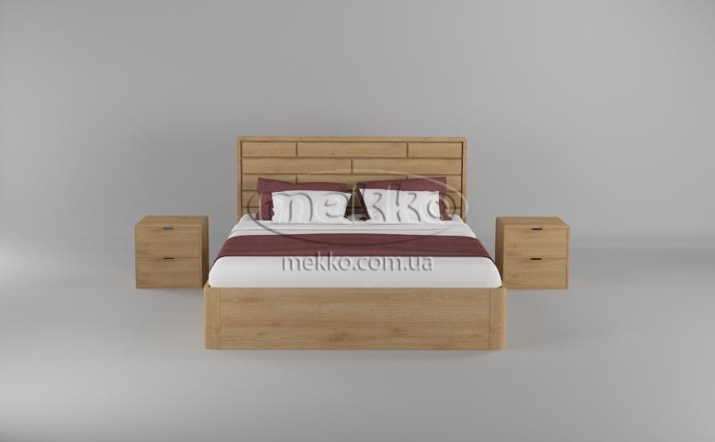 Ліжко Лауро з Підйомником (масив бука /масив дуба) T.Q.Project  Конотоп-4